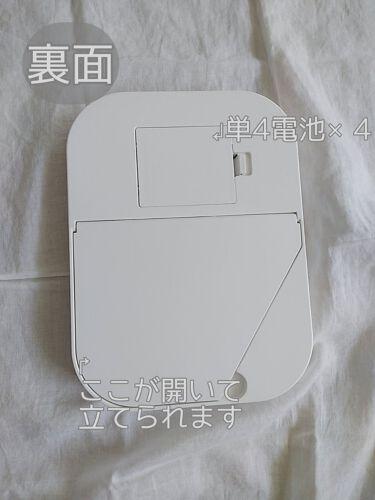 枠が光るLED付ミラー スクエア/DAISO/その他化粧小物を使ったクチコミ(4枚目)