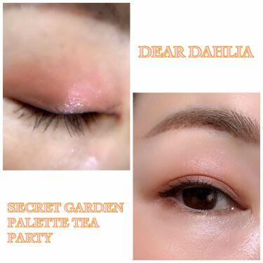 SECRET GARDEN PALETTE TEA PARTY/DEAR DAHLIA/パウダーアイシャドウを使ったクチコミ(3枚目)