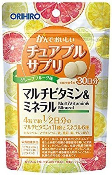 マルチビタミン&ミネラル マンゴー味/オリヒロ/健康サプリメントを使ったクチコミ(1枚目)