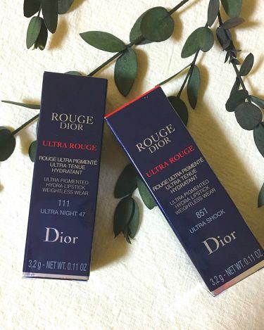 ルージュ ディオール ウルトラ ルージュ/Dior/口紅を使ったクチコミ(4枚目)