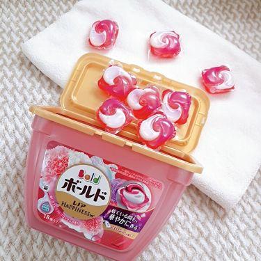 ボールドジェルボール3D 癒しのプレミアムブロッサムの香り/ボールド/香り付き柔軟剤・洗濯洗剤を使ったクチコミ(1枚目)