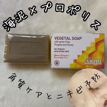 ヴェジタルソープ(プロポリス&ピュアハニー)/ARGITAL/ボディ石鹸を使ったクチコミ(1枚目)