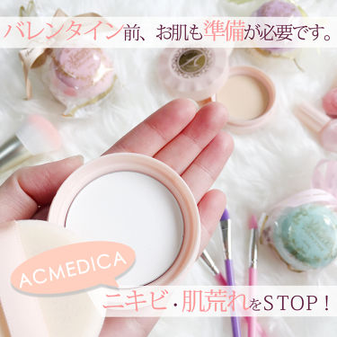 アクメディカ 薬用 フェイスパウダー クリア/アクメディカ/フェイスパウダーを使ったクチコミ(1枚目)
