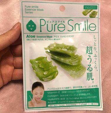 アロエエキス/Pure Smile(ピュアスマイル)/シートマスク・パックを使ったクチコミ(1枚目)