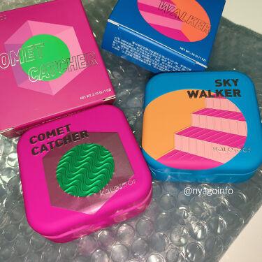 【画像付きクチコミ】上海からの刺客。宇宙の煌めきハイライト🚀▶︎KALEIDOS/SPEACEAGEHIGHLIGHTERSkyWalker(ブルーのパケ)CometCatcher(ピンクのパケ)2019年11月購入各14$1年以上前の購入品ですが、今現...