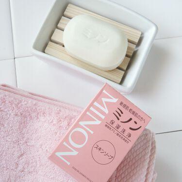 ミノンスキンソープ/ミノン/洗顔石鹸を使ったクチコミ(1枚目)
