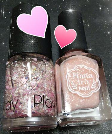 【画像付きクチコミ】🌸🌸🌸春を先取りキラキラ桜ネイル🌸🌸🌸エチュードハウスのプレイネイル107とはないろネイルの桜を使って塗ってみました!どの指も同じように見えますが、親指と薬指がプレイネイル、人差し指と中指と小指がはないろネイルです。プレイネイルの10...