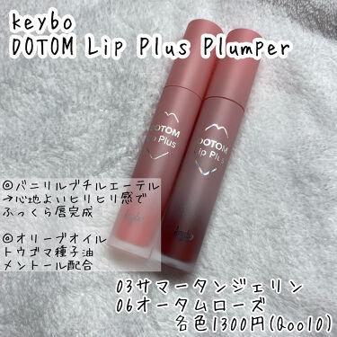 DOTOM Lip Plus Plumper/keybo/リップグロスを使ったクチコミ(2枚目)