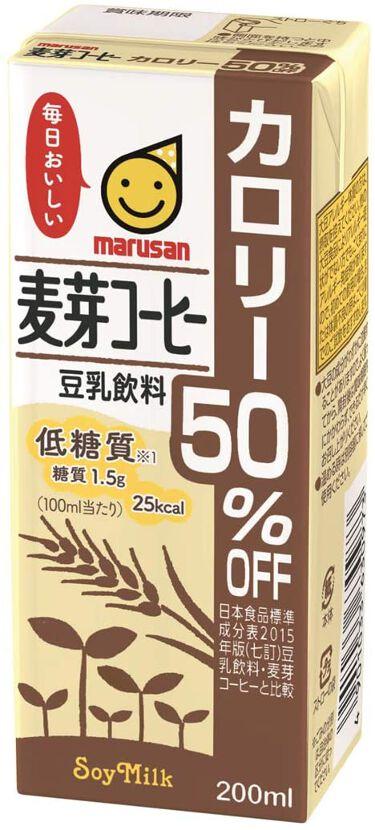 豆乳飲料麦芽コーヒーカロリー50%OFF マルサンアイ