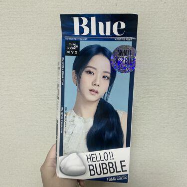 【画像付きクチコミ】これ最高ですね、、⭐️市販ではビューティーンでブルーヘアー染めていたのですが薬剤が強くていつも毛先が痛んでカラーの持ちも1週間ぐらいで落ちてしまって、、ずっと気になっていたミジャンセンのヘアカラー買ってしまいました🙂🧿日本のクリームタ...