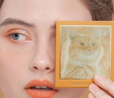 アイシャドウ猫シリーズ/Venus Marble(ヴィーナスマーブル)/パウダーアイシャドウを使ったクチコミ(4枚目)