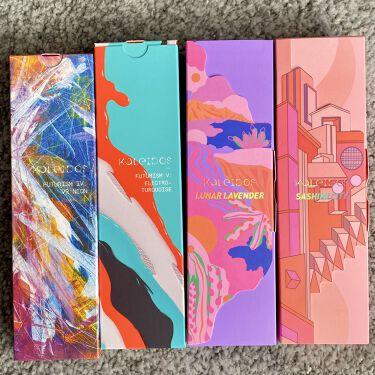 Futurism V: Electro-Turquoise/Kaleidos Makeup/パウダーアイシャドウを使ったクチコミ(5枚目)