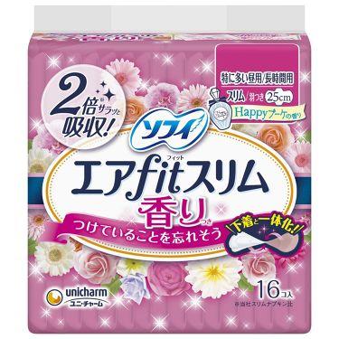 エアfitスリム(R) Happyブーケの香り 特に多い昼用/長時間用 250羽つき