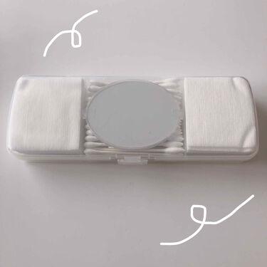 化粧コットン&綿棒セットケース(カガミ付き)/DAISO/その他化粧小物を使ったクチコミ(1枚目)