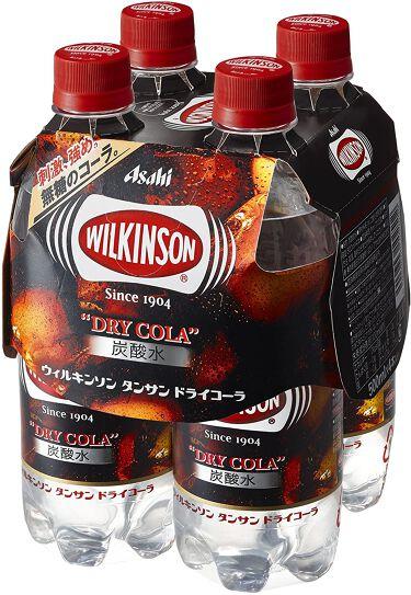 Wilkinson Tansan (ウィルキンソン タンサン/炭酸水) ドライコーラ PET 500ml×4本入りマルチパック