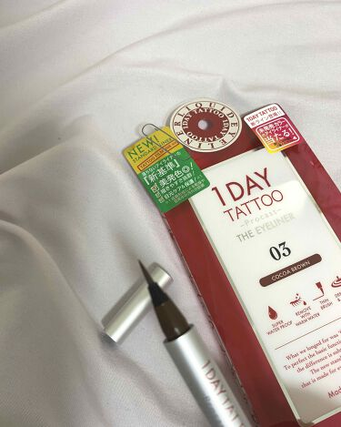 1DAY TATTOO プロキャスト ザ・アイライナー/K-Palette/リキッドアイライナーを使ったクチコミ(2枚目)