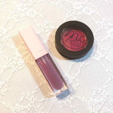 【画像付きクチコミ】ダイソーのスフレチークで撃沈したので3coinsでリベンジ笑😆★MagicClosetクリームチーク今回は綺麗に色付きました😂鮮やかな深め赤ピンクが可愛いし、色付きは調節できるので使いやすいです💕★MCPリップオイルGrapeパープル...
