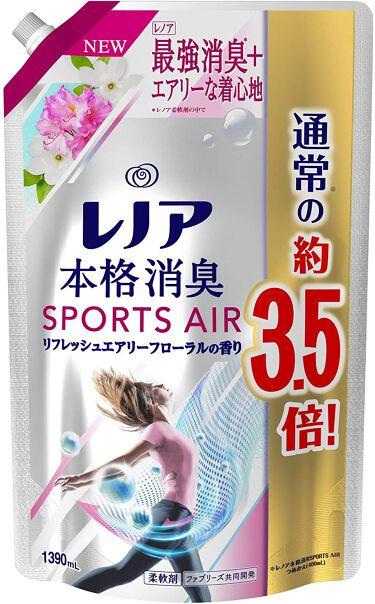 レノア本格消臭スポーツエアー リフレッシュエアリーフローラルの香り 1390ml