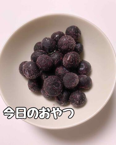 くらげ.୨୧* フォロバ100 on LIPS 「今日のおやつは、冷凍ブルーベリー!美味しいのに低カロリー!!1..」(1枚目)