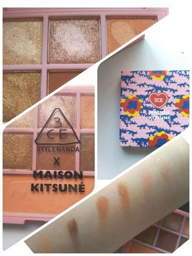 MAISON KITSUNE MULTI COLOR PALETTE/3CE/パウダーアイシャドウを使ったクチコミ(1枚目)