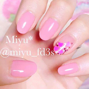【画像付きクチコミ】𓍯本日のみゆねいる┈༝༚༝༚♡゙明るめのナチュラルピンクのネイルです(*¨*)♡どちらかと言えばちゅるんですが求めるちゅるん感にはやや不足気味(´._.`)可愛らしいピンクです(*´˘`*)♡2度塗りにトップコートなしです✩︎⡱薬指は...