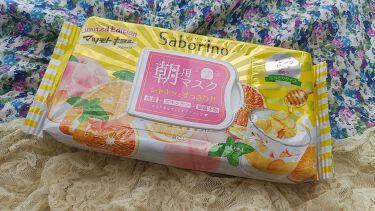 目ざまシート オレンジピーチの香り(マツモトキヨシ限定)/サボリーノ/シートマスク・パックを使ったクチコミ(1枚目)