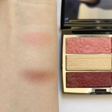 トリオ ブリック パレット<ピュア グロウ>/Dior/パウダーアイシャドウを使ったクチコミ(4枚目)