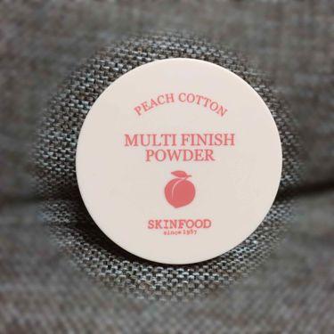 ピーチコットン マルチフィニッシュパウダー/SKINFOOD/ルースパウダーを使ったクチコミ(2枚目)