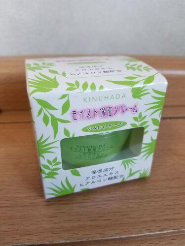 KINUHADAモイスト保湿クリーム/セリア/フェイスクリームを使ったクチコミ(1枚目)