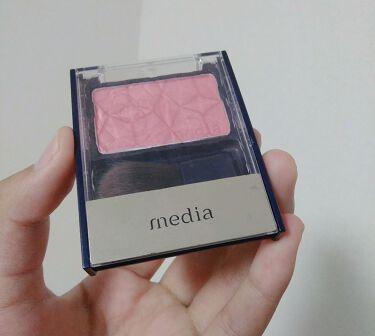 ブライトアップチークN/media/パウダーチークを使ったクチコミ(3枚目)