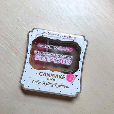 カラースタイリングアイブロウ/CANMAKE/その他アイブロウを使ったクチコミ(1枚目)
