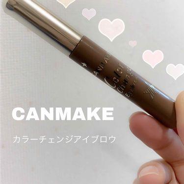 カラーチェンジアイブロウ/CANMAKE/眉マスカラを使ったクチコミ(1枚目)