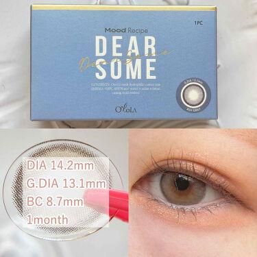 ディアサム(DearSome)/OLOLA/カラーコンタクトレンズを使ったクチコミ(3枚目)