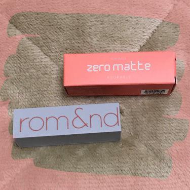 ゼログラムマットリップスティック/rom&nd/口紅を使ったクチコミ(1枚目)