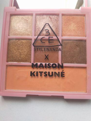 MAISON KITSUNE MULTI COLOR PALETTE/3CE/パウダーアイシャドウを使ったクチコミ(3枚目)
