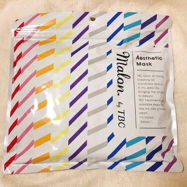 ありささんの「TBCMalon.by TBC エステティックマスク<シートマスク・パック>」を含むクチコミ