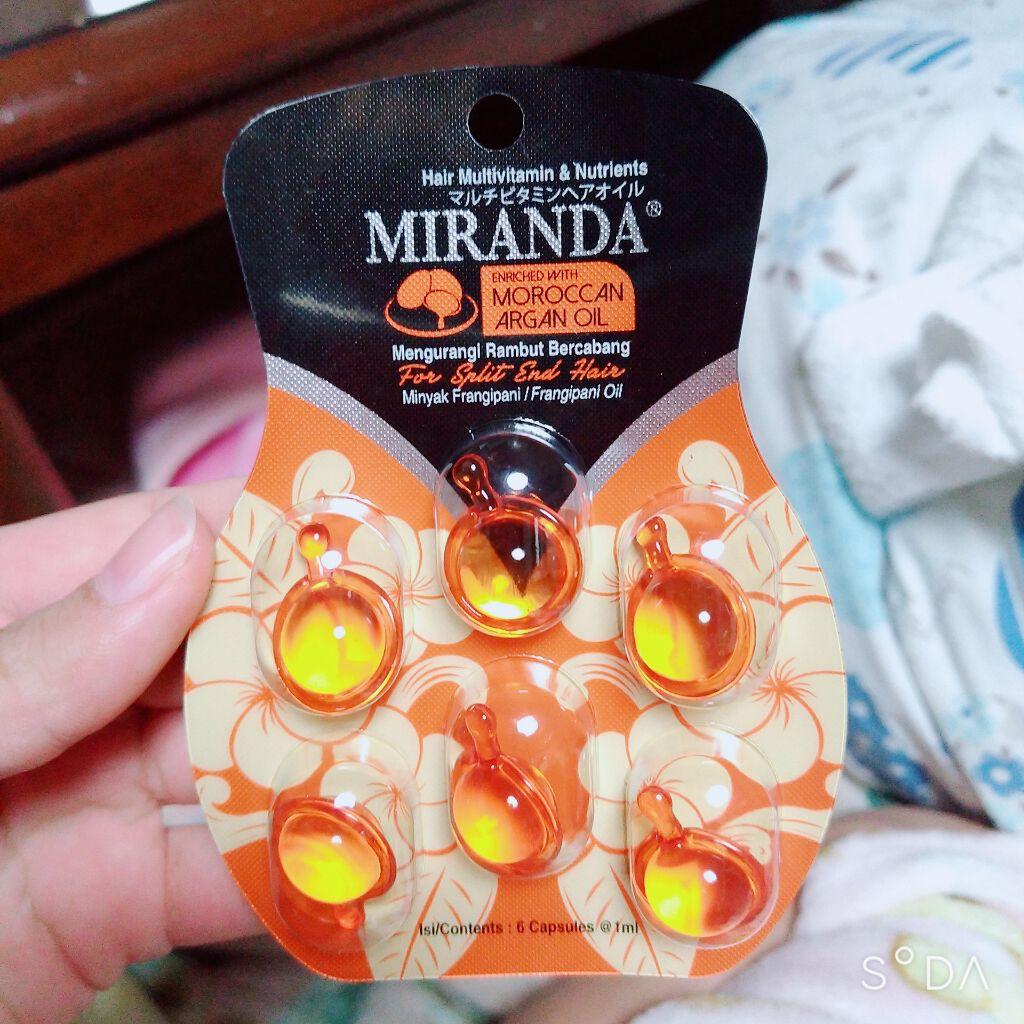 ミランダ セリア セリアさん『ミランダ(MIRANDA) マルチビタミンヘアオイル』を使ってみたぞ(。・ω・)ノ゙