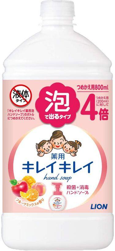 薬用泡ハンドソープ フルーツミックスの香り フルーツミックスの香り つめかえ用 800ml
