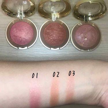 BAKED POWDER BLUSH/Milani Cosmetics /パウダーチークを使ったクチコミ(2枚目)