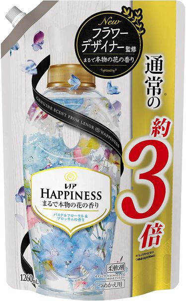 レノアハピネス パステルフローラル&ブロッサムの香り つめかえ1260ml