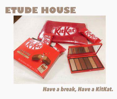 ゆんさん⛄️💎さんの「ETUDE HOUSEプレイカラーアイズ ミニ #キットカットオリジナル<パウダーアイシャドウ>」を含むクチコミ