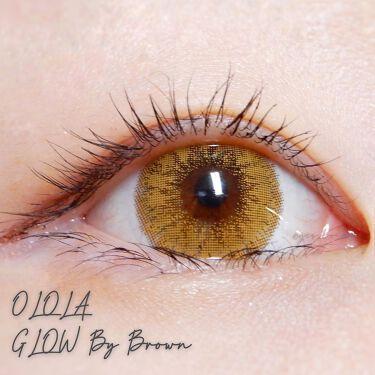 【画像付きクチコミ】#カラコンレポ#OLOLA@olola_jp#GlowByBrown#グローバイブラウンDIA:14.5GDIA:13.6BC:8.8華やかな印象にしてくれるブラウンカラコン✨大きめカラコンでデカ目効果抜群です!明るめのブラウンで、黒...
