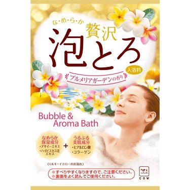 贅沢泡とろ 入浴料 プルメリアガーデンの香り お湯物語