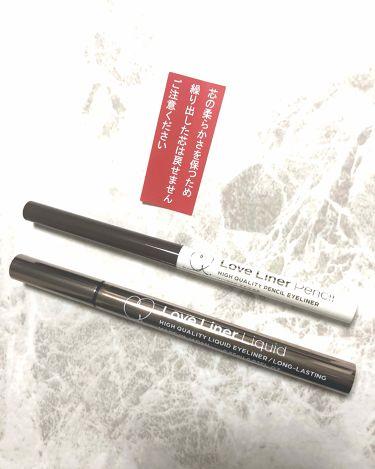 ラブライナー リキッド/ラブライナー(Love Liner)/リキッドアイライナーを使ったクチコミ(3枚目)