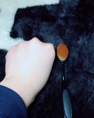 春姫ファデーションブラシ(オーバル型)/DAISO/メイクブラシを使ったクチコミ(2枚目)