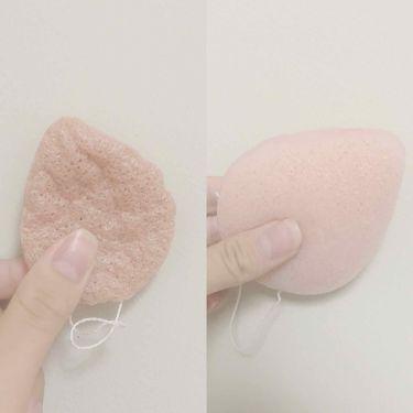 こんにゃく洗顔パフ/セリア/その他スキンケアグッズを使ったクチコミ(1枚目)