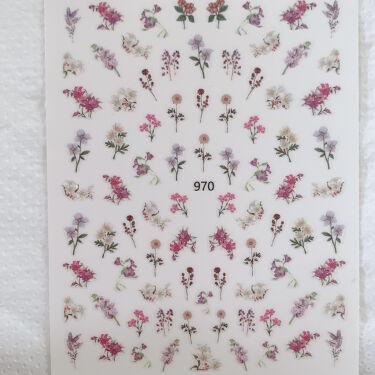 【画像付きクチコミ】こんにちは😊今回はネイルタウンで購入したフラワーネイルシールを使った簡単ネイルデザインを紹介します💕✨ベースカラーはくすみ系のシアーグリーンを使いましたが、もう少し白っぽいカラーにするとお花の色がはっきり見えます☺️こちらのシールはか...