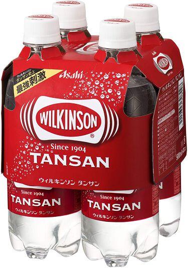Wilkinson Tansan (ウィルキンソン タンサン/炭酸水) PET 500ml×4本入りマルチパック
