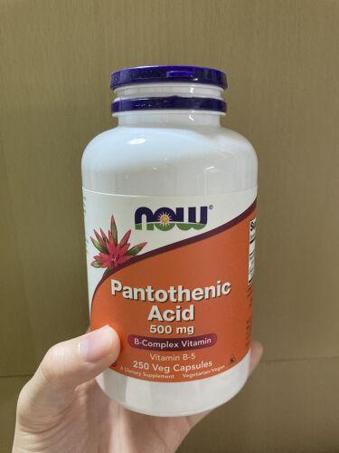 PantothenicAcid 500mg/Now Foods/健康サプリメントを使ったクチコミ(1枚目)