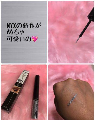 NYX グリッターゴールズリキッドアイライナー/NYX Professional Makeup/その他アイライナーを使ったクチコミ(1枚目)